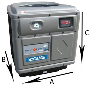 Waterco Electroheat Plus Swimming Pool Heat Pump dimensions