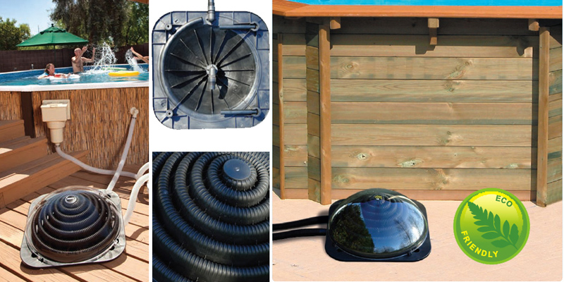 Swimming pool solar heating pods